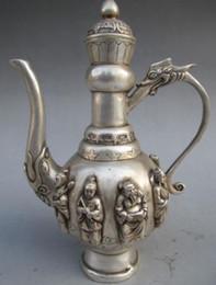 Wholesale Exquisite workmanship white copper silver plated teapot jug Immortals