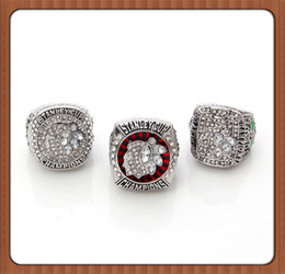 Wholesale For NHL Set Replica Ice Hockey Chicago Blackhawks Set Stanley Cup Championship Ring Three Rings High Quality