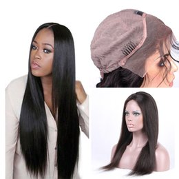 Factory Price Lace Front Human Hair Wigs For Black Women Pre Plucked Hairline Straight Brazilian Virgin Hair With Baby Hair Free Shipping