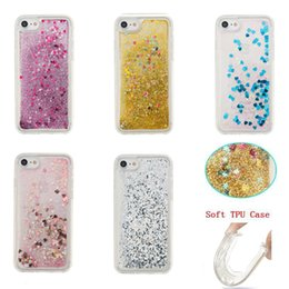For iPhone 7 7 Plus Fashion Creative Design TPU Flowing Liquid Floating Bling Glitter Stars Clear Case Cover For iPhone 6s Plus BE0436