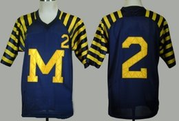 Wholesale Factory Outlet Michigan Wolverines Charles Woodson Blue Jersey Woodson Ncaa College Authentic Football Jerseys New