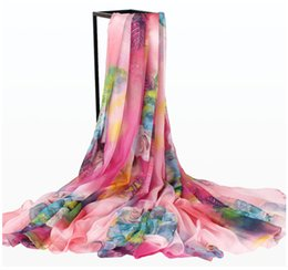 Joker chiffon scarves female summer new fashion Korean celebrities large beach towels is prevented bask in shawls long fabric wholesale