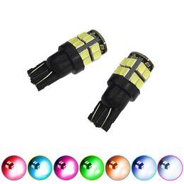 LEEWA 2pcs 7-Color 194 168 T10 2835-Chip 20SMD Dual-Elec Board Wedge Car LED Light Bulbs #1413