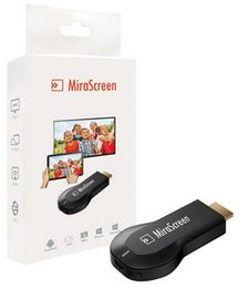 Androide tv stick dlna online-MiraScreen OTA TV Stick Dongle mejor que Anycast EasyCast Wi-Fi de visualización del receptor DLNA Airplay Miracast Airmirroring Chromecast