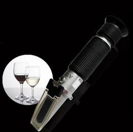 Wholesale hot new arrivel handheld alcohol tester refractometer oenometer moniter detector of liquor meter with ATC