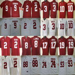 Wholesale 2 Jalen Hurts Bo Scarbrough Jonathan Allen Julio Jones A J McCarron Ridley O J Howard Alabama Crimson Tide Jersey men football sport shirt