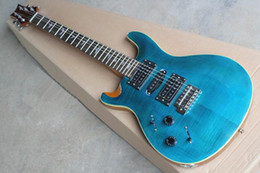 The Wholesale-2015 New Brand Factory Customzied Left-handed Electric Guitar with Blue Body and Bird Shaped Fret Marks Inlay