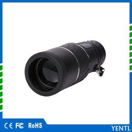Compra Online Lente de enfoque dual-YENTL Prismáticos Monoculares Portátiles 16 x 52 Zoom Dual Zoom Lente Óptica Telescopio Monocular 16X Turismo Alcance para viajes en coche