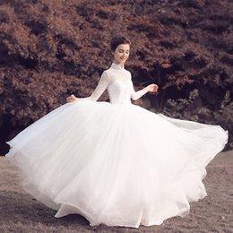 Manches longues boutons robe backless de mariage à vendre-Robe de mariée en satin de mariée en satin de mariée