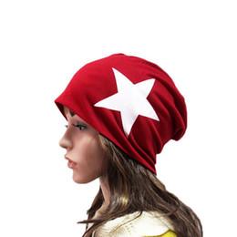 Winter Casual Cotton five stare Hats For Women Men Baggy Beanie Hat Crochet Slouchy Oversized Ski Cap Warm