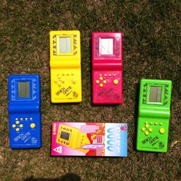 Tetris Brick Handheld Game Toy HandHeld LCD Electronic Game Triple Tetris Brick Game Sliding Blocks for kids free shipping