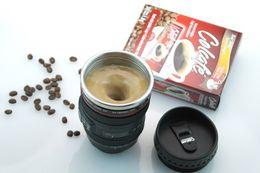 Cámaras de lentes de porcelana en Línea-Eléctrico Mezcla de Mezcla de Café Taza de té Taza de la lente de la cámara Taza de agitación automática perezoso Presión de botón
