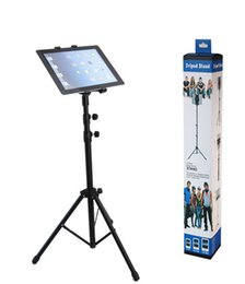Wholesale hot sale IPad mini air tripod floor stand lazy people ABS aluminum universal Tablet pc stand