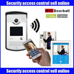 Visores de puerta al por mayor en Línea-Venta al por mayor-LifeDoo Wifi video puerta de teléfono inalámbrico intercomunicador timbre, cámara con visión nocturna