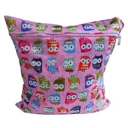 Acheter en ligne Bébé tissu réutilisable couche nappy-Vente en gros-2016 Mode bébé réutilisable couches Nappy WetDry Sac nageur Zipper Tote Vente chaude