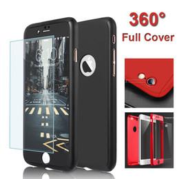 Acheter en ligne Protection téléphone cellulaire-Couverture complète PC Hybrid 360 degrés pleine protection du boîtier du boîtier du boîtier avec le protecteur d'écran en verre trempé pour iPhone6S 7Plus boîtier de téléphone cellulaire