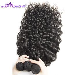 Promotion vague d'eau armure bouclée Ventre 7A Brazilian Virgin cheveux eau vague 3/4 Pcs / Lot brésilien cheveux bouclés Virgin Hair Weave 8