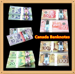 Wholesale 500Pcs Canada Banknotes Set Bank Staff Training Learning Banknotes Poker Chip Arts Gifts Home Decoration Arts Crafts