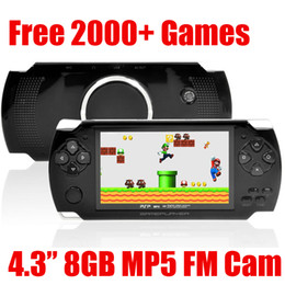 """Portable 4.3"""" LCD 8GB MP5 Game Player 1.3MP Camera Classic PMP MP3 MP4 Multimedia Video Console Recorder Ebook free 2000 Games FM TV out"""