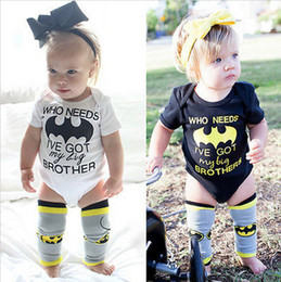 Wholesale 2017 INS summer letter baby girl rompers jumpsuits high quality fashion cute newborn Onesies Who Needs Batman I ve Got My Big Brother
