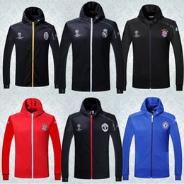 Wholesale best quality Real madrid jerseys arsenals soccer jacket Training jackets chelsea jersey football shirt