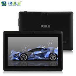 2017 ips tableta al por mayor Venta al por mayor iRULU original eXpro X1 7 '' 1280 * 800 IPS Tablet Android 4,4 Quad Core Tablet PC 1G + 16G Dual Cámaras Bluetooth WiFi 2017 Nuevo barato ips tableta al por mayor