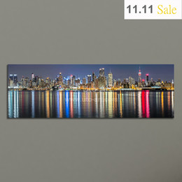 Wholesale Guarantee New York City Canvas Painting Panoramic Home Decor Canvas Wall Art Picture Landscape Digital Art Print for Living Room