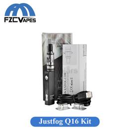 Wholesale Juego original del arrancador de la pluma de Vape del cigarrillo del cigarrillo de la plata esterlina del kit de Justfog Q16 mAh con m m