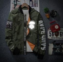 Wholesale 3m reflective jacket windbreaker streetwear hip hop softshell ma1 bomber jacket college jaqueta masculina veste baseball windbreakers