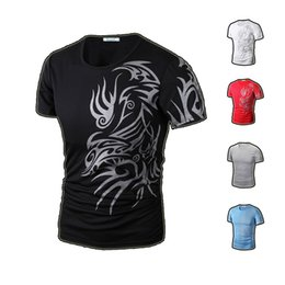 Wholesale Casual Print Men s T Shirt Fashion Sport Shirt Short Sleeve O Neck Round Neck Printing Elastic Product Good Quality Lower Price TX70 TX72 R2