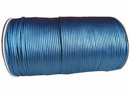 2.5mm Lt blue Rattail Satin Nylon Cord+250m Roll Jewelry Accessories Macrame Rope Shamballa Bracelet Chinese Knot Thread Cords
