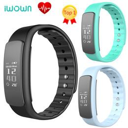 Mi bracelet de bande à vendre-Original iWown I6 PRO Bracelet Smart Band Bluetooth 4.0 Appelez Message Reminder Cardiomètre Passometer pk xiaomi mi bande 2