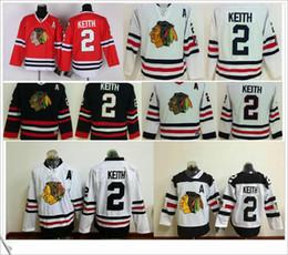 Promotion série de hockey Sell 2016 stadium series chicago blackhawks Sweatshirt de hockey sur glace 2017 hiver classique hommes broderie 100% cousu maillots # 2 Duncan Keith