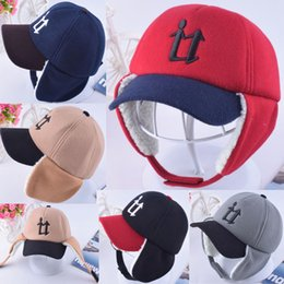 Wholesale kids winter keep warm earflaps hats Trapper designer hat outdoor sports Peaked earmuffs caps for baby children kid new arrive