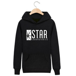 Wholesale The Flash DC Barry Allen Laboratories Star Labs Hoodie Mens Pullover Sweatshirt Heroes Male Clothes Arrow Moletom Masculino