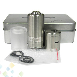 Wholesale Stainless Steel AQUA V2 Atomizer Clone Aqua V2 RBA RDA Dripping Clear Tank High quality mm diameter Rebuildable Atomizer DHL Free