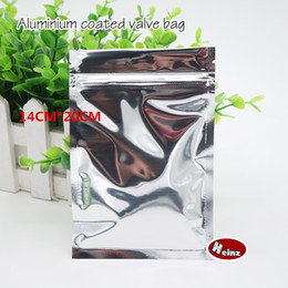 14*20cm Opaque aluminium ziplock bag   Aluminum foil plastic pouch  Food storage packaging Sealed bags. Spot 100  package