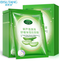 BISUTANG Aloe face Mask Whitening Moisturizing Anti Aging Ageless Facial Mask skin care tony moly mask Acne Treatment nourish moist peels