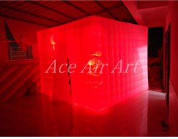 China Suppliers 3mL*3mW*2.4mH Inflatable Photographic wedding cabins Cube Stand for Party and Wedding