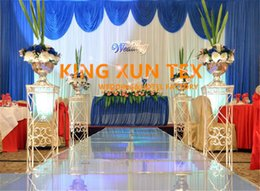 10ft*20ft Wedding Backdrop Curtain With Royal Blue Drape Include The Pipe Stand \ Stent For Event Decoration