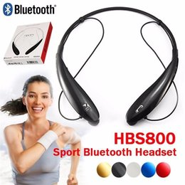 HBS 800 HBS800 Headphone Wireless Bluetooth Headset Earphone Sports Bluetooth 3.0 Earphone Handsfree In-ear for LG No logo With Retail Box