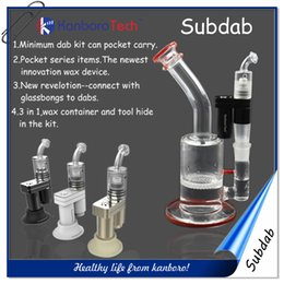 Wholesale Original Subdab Mini Portable Dab Vaporizer Vape for Big Bongs Hookah with Wax Container on New Listing