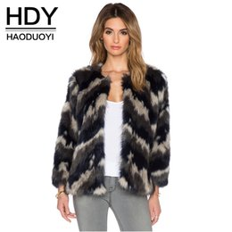 Wholesale HDY Apparel Slim Faux Fur Coats Casual Straight Long Sleeve Jacket Sexy Street Style Coats Women Clothes
