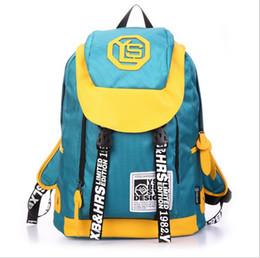 Large capacity backpack women's leisure sports wear waterproof backpack spell color zipper bag