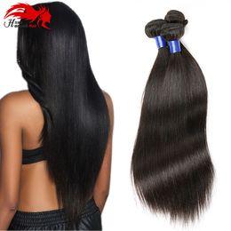 Hannah Peruvian Virgin Hair Straight 3 Bundles Human Hair Wefts 8A Virgin Unprocessed Human Hair Bundles Weaves No Tangle Natural