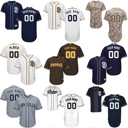 Free Shipping cheap Men's Custom San Diego Padres blank Baseball Jersey Flexbase Collection For Sale stitched size S-5XL