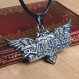 LOL League of Legends Stainless Steel Comics Movie Game Cartoon Vintage Chain Necklace Pendant Carving MP76