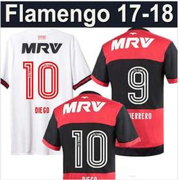 Wholesale - 17 18 flamengo jersey Flamengo Jersey 2017 2018 Brasil Flemish Away ZICO ELANO HERNANE Soccer Jerseys sports boy chlid