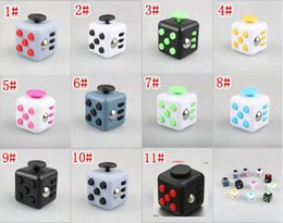 Wholesale stress relief toys fidget cube toy new products via dhl colors in stock