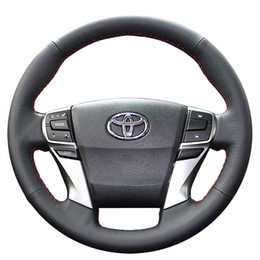 Steering wheel cover Case for Toyota MARK X REIZ 2013 new model Genuine leather DIY Hand-stitch Car styling